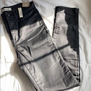 "Madewell 10"" High Rise Skinny Jeans Coated Edition"